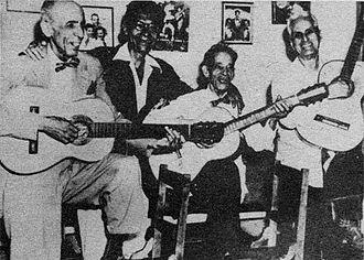 Trova - The four greats of the trova from left: Rosendo Ruiz, Manuel Corona Sindo Garay, Alberto Villalón