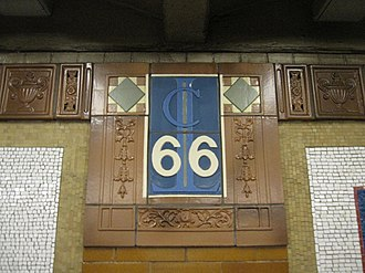66th Street–Lincoln Center (IRT Broadway–Seventh Avenue Line) - Cartouche