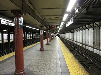 72nd Street (IRT Broadway–Seventh Avenue Line) - Uptown island platform