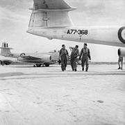 No. 77 Squadron RAAF pilots and Meteor aircraft in Korea