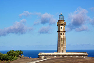 Lighthouse of Ponta dos Capelinhos lighthouse in Portugal