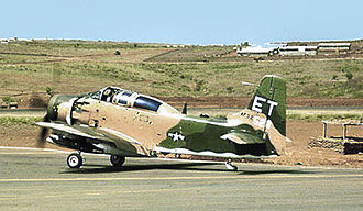 Pleiku Air Base - A-1E Skyraider of the 6th Special Operations Squadron at Pleiku AB