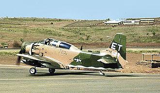 "Pleiku Air Base - Douglas A-1E ""Skyraider"" of the 6th Air Commando Squadron at Pleiku AB"