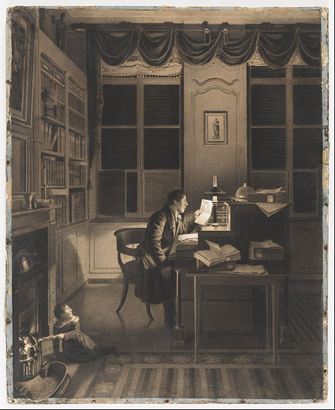 File:A. L. Leroy - Interior with a Man Reading at His Desk - Google Art Project.jpg