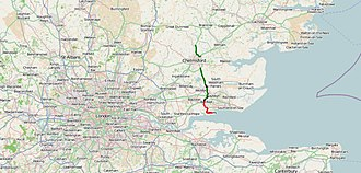 A130 road - Image: A130 road map