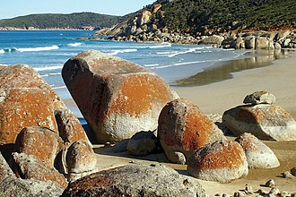 Wilsons Promontory National Park - Colourful rocks within the national park