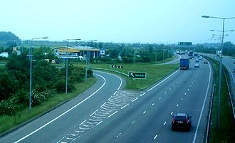 A50 road - Image: A50Services Westbound 7