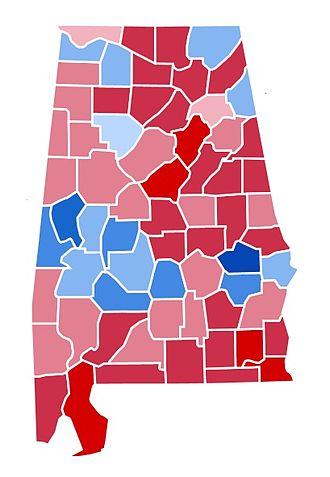 1988 United States presidential election in Alabama - Image: AL1988