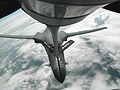 A B-1B is refueled by a KC-135 Stratotanker from the 108th Air Refueling Wing.jpg
