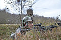 A U.S. Army soldier provides security for a landing zone during a situational training exercise at the Joint Multinational Readiness Center in Hohenfels, Germany, on Nov 121110-A-KH850-011.jpg