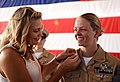 A chief has her anchors pinned by her wife. (20872795463).jpg