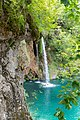 A close-up view of a small waterfall in Plitvice Lakes National Park, Croatia (48669962378).jpg