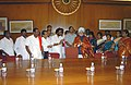 A delegation led by the Union Minister for Shipping, Road Transport and Highways, Shri T. R. Baalu congratulating the Prime Minister, Dr. Manmohan Singh on UPA's victory, in New Delhi on July 23, 2008.jpg