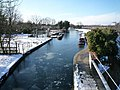 A frozen Grand Union Canal - view from The Three Bridges - looking westward - geograph.org.uk - 1183754.jpg