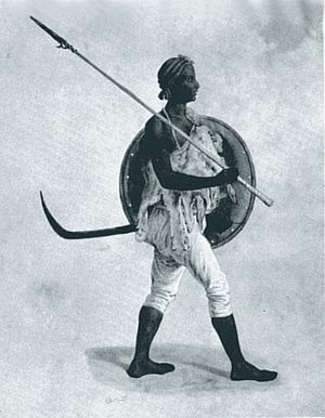 "Military history of Ethiopia - ""A lancer of Tigre"" - From T. Lefebvre and others, ""Voyage en Abyssinie"" (Paris 1845–49)"