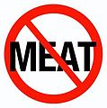 A logo of no entry with word meat to show support for vegatarianisms .jpg