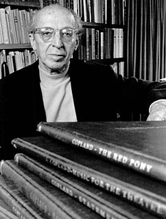 Aaron Copland American composer, composition teacher, writer, and conductor