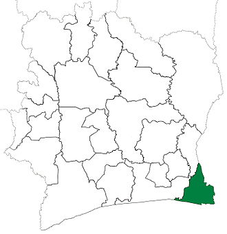 Aboisso Department - Aboisso Department upon its creation in 1969. It kept these boundaries until 1998, but other departments began to be divided in 1974.