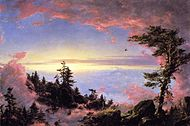 Above the Clouds at Sunrise Frederic Edwin Church.jpg