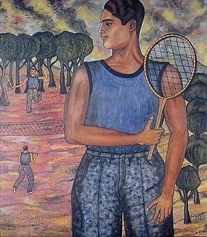 Abraham Ángel - Image: Abraham Ángel Portrait of Hugo Tilghman (The Tennis Player) Google Art Project