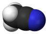 Spacefill model of acetonitrile