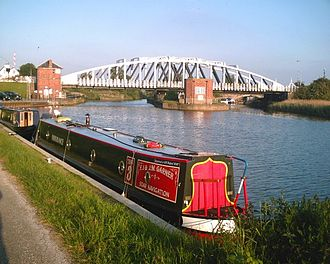 A49 road - Acton Swing Bridge