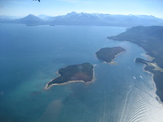 Admiralty Island - Colt Island and Horse Island with Admiralty Island in the background