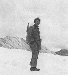 Adolph Murie on Muldrow Glacier, 1939, Denali National Park