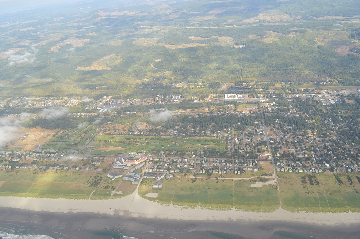 Aerial view of Gearhart