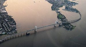 Aerial View of the Throgs Neck Bridge