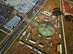 Aerial perspective of the Circus Royale outside Tarneit Gardens Shopping Centre in summer 2018.jpg