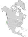 Aesculus californica USGS range map.png