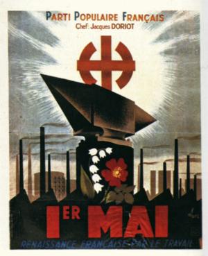 French Popular Party - PPF propaganda poster
