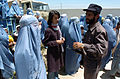 Afghanistan National Police provide security during a Humanitarian Assistance mission at a women's center outside Bagram, Afghanistan on July 18, 2005 050718-A-UK569-053.jpg