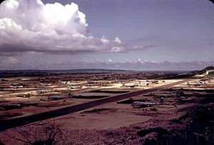 North Field (Tinian) - North Field in 1945, just prior to the bombings of Hiroshima and Nagasaki by the 509th Composite Group
