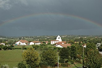 Ahetze - A rainbow above the village