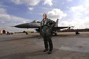 Women in aviation - Image: Air Force's first African American female fighter pilot 080317 F XX000 064
