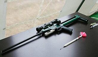 Tranquillizer gun - An air rifle with a tranquilliser dart