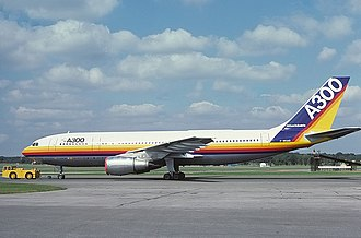 Airbus - Airbus A300, the first aircraft launched by Airbus, introduced in 1974.