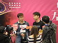 Alan Tam and Hacken Lee's dvd signature activity at Tuen Mun Town Plaza 2014.JPG