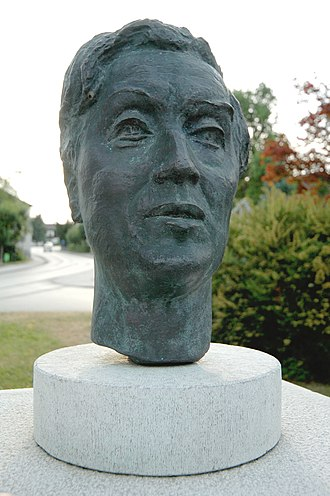 Alban Berg - Bust of Alban Berg at Schiefling on the lake, Klagenfurt-Land District, Carinthia, Austria