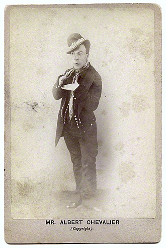 Costermonger - Albert Chevalier, a music hall comedian, in Coster costume, circa 1890