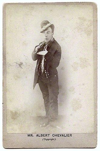 """Albert Chevalier - Chevalier in """"coster"""" costume, c. 1890"""