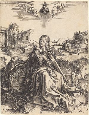 The Holy Family with the Dragonfly - A variant: The Holy Family with the Mayfly (NGA 1943.3.3453)