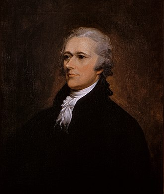 First Report on the Public Credit - Alexander Hamilton portrait by John Trumbull 1806