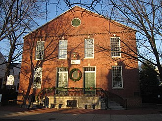 Old Presbyterian Meeting House - East view of the meetinghouse