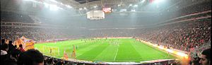 Ali Sami Yen Stadium - Interior view of the new stadium Türk Telekom Arena