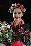 Alina Zagitova at the Grand Prix Final 2018 - Awarding ceremony.jpg