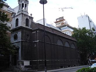 Broad Street (ward) - All Hallows-on-the-Wall church.