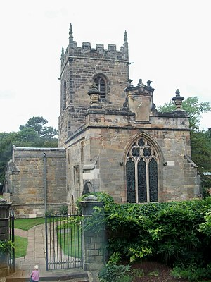 Kedleston - All Saints' Church is the only surviving building from the original village.